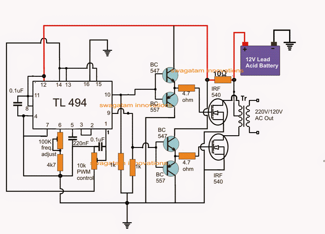 hight resolution of ic tl494 pwm modified sine wave inverter