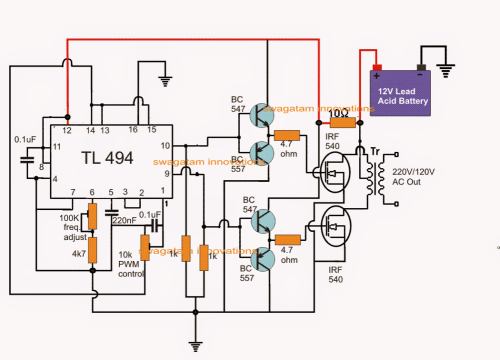 small resolution of ic tl494 pwm modified sine wave inverter
