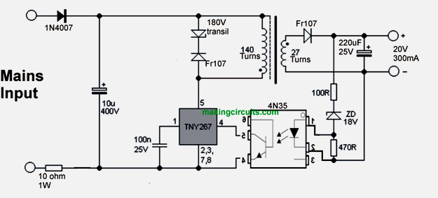 circuit diagram 3 phase battery charger