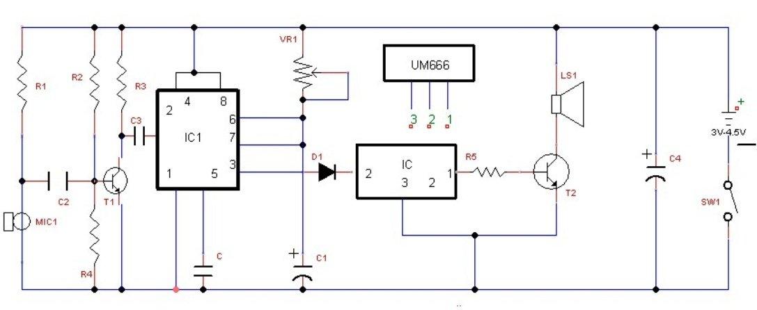 simple door bell circuit