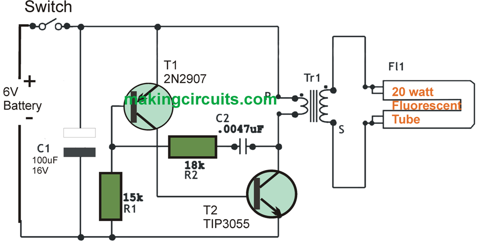 flasher unit wiring diagram 3 speed fan switch 6v dc 20 watt florescent lamp driver circuit