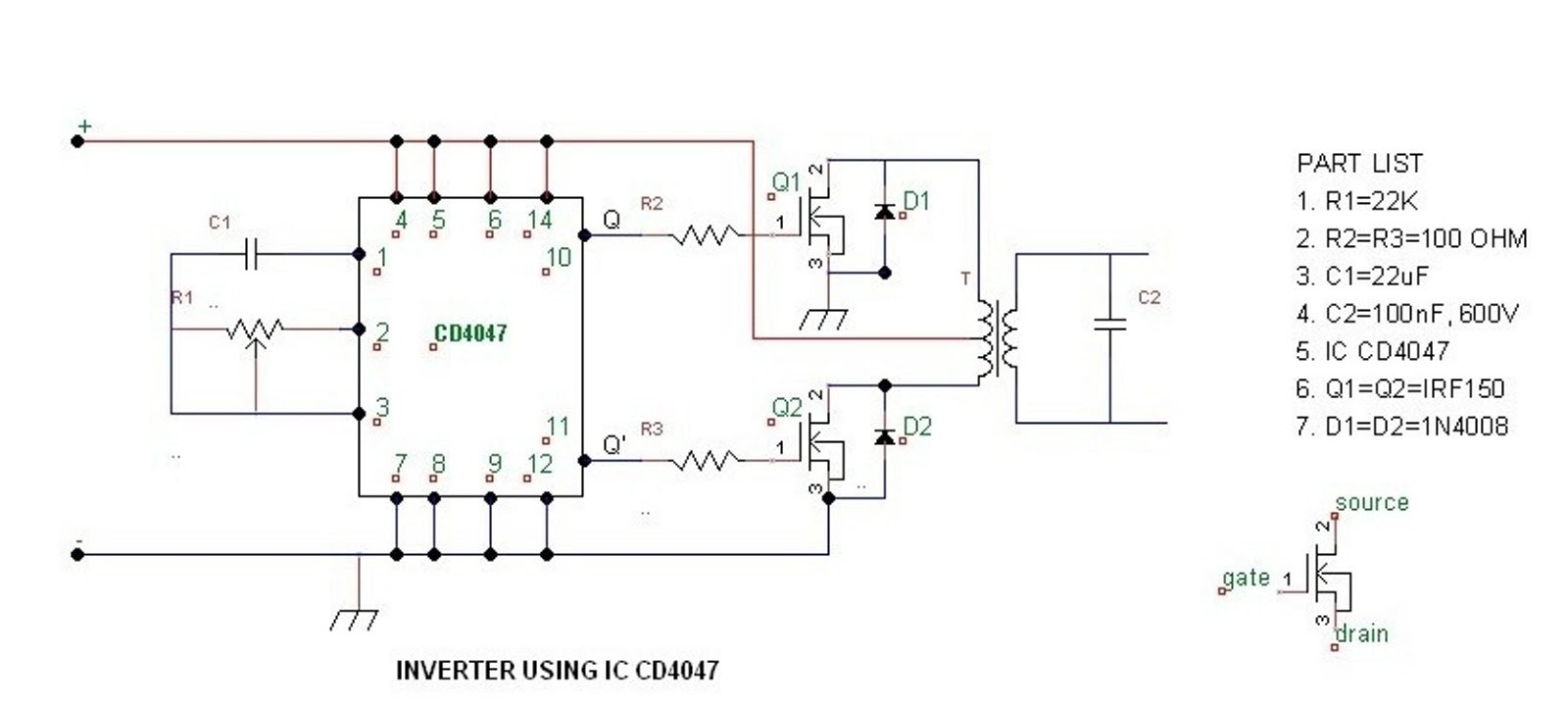 Step Up Transformer Wiring Diagrams Simple 100 Watt To 500 Watt Inverter Circuit