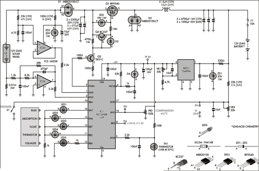 mppt charge controller circuit diagram