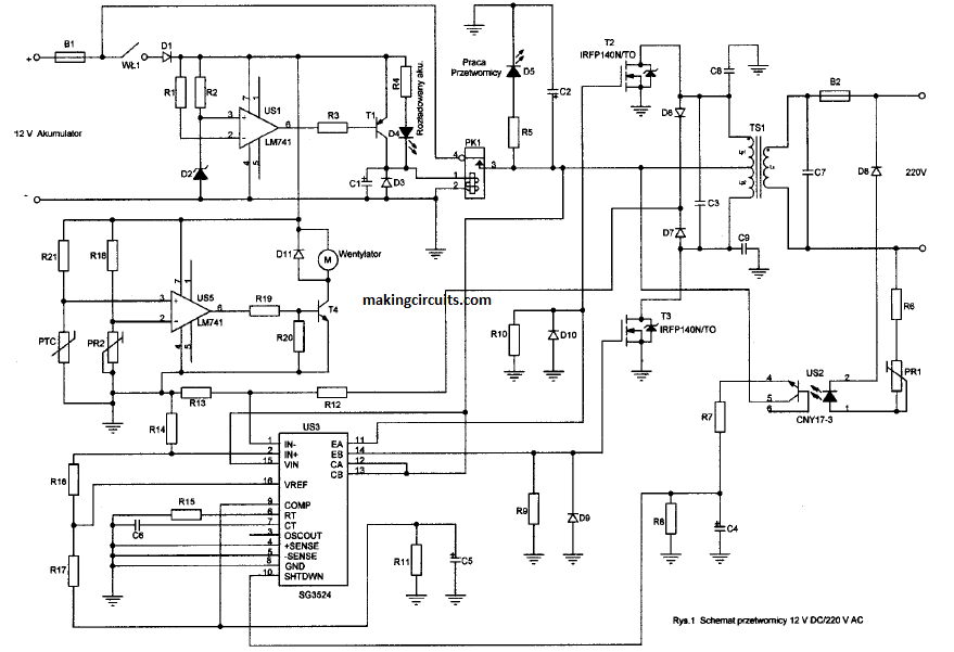 circuit for inverter