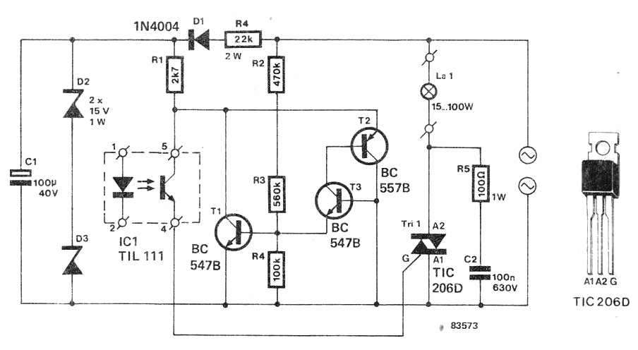Solid State Relay (SSR) Circuit Using Triac
