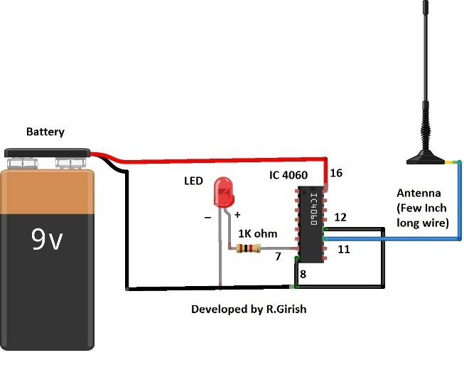 This Circuit Is A Simple Electric Field Detector It Can Can Detect
