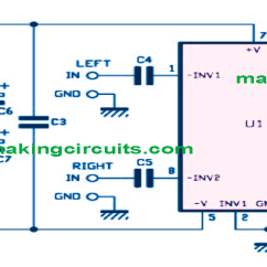 Circuit Diagram Of Non Inverting Amplifier Solar Panel Charge Controller 30 Watt Stereo Using Ic Tda1521