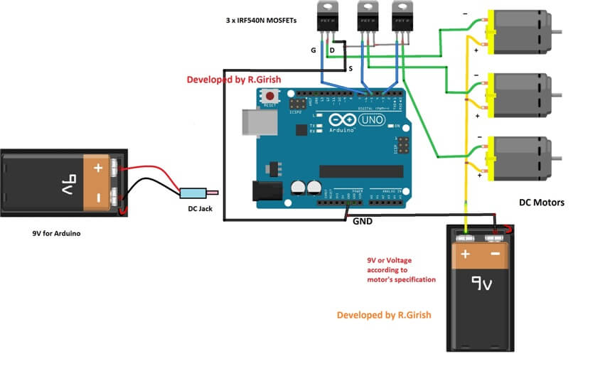 Analog Joystick Wiring Diagram Wireless Dc Motor Speed Control Using Arduino
