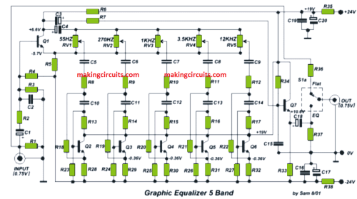small resolution of graphic equalizer schematic