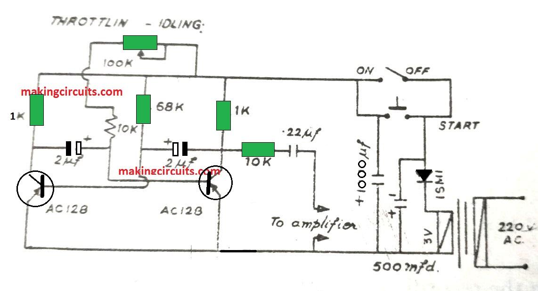 Motor Boat Sound Generator Circuit