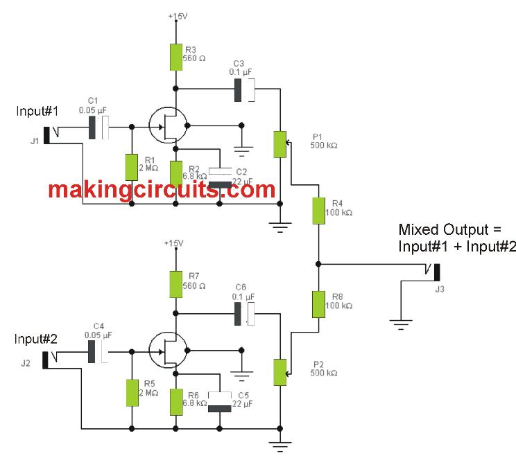 Microphone Mixer Circuit