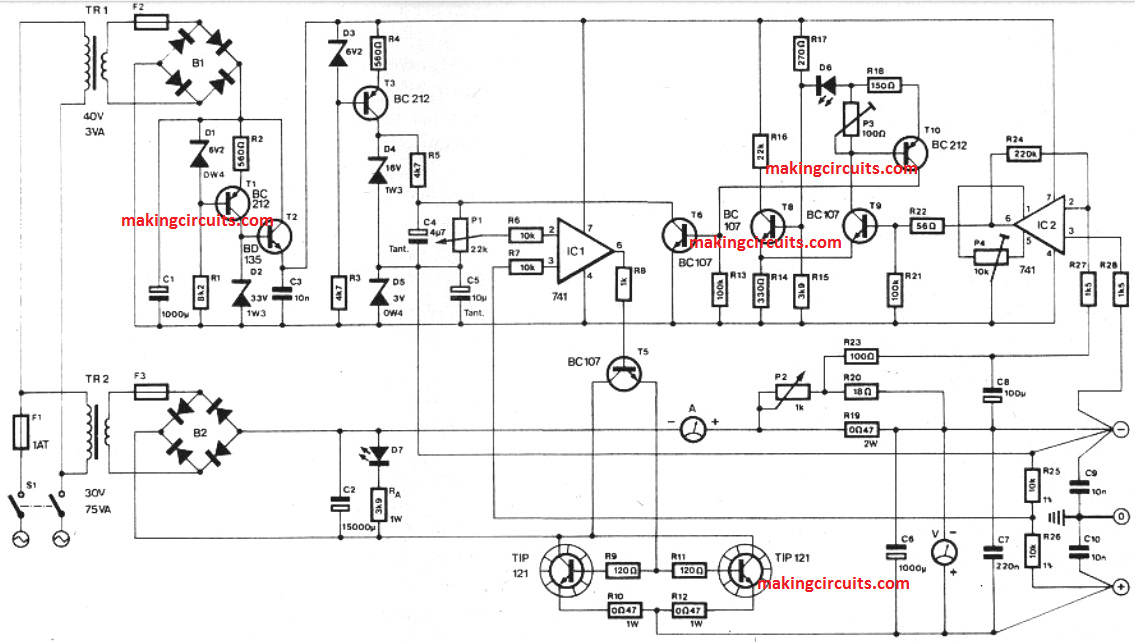 High End Bench Power Supply with Variable Voltage/Current