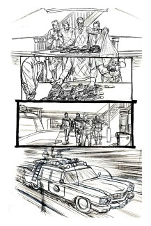 Ghostbusters Pencils, for IDW. I inked this myself, and was under deadline, so working a lot rougher here.