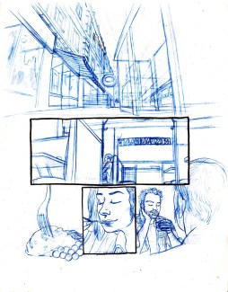 Dream Life pencils. In color-erase pencils.