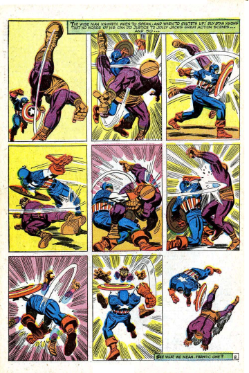 "By Jack Kirby from ""The Blitzkrieg of Batroc!,"" Tales of Suspense #85, January 1967 (page # 8)."