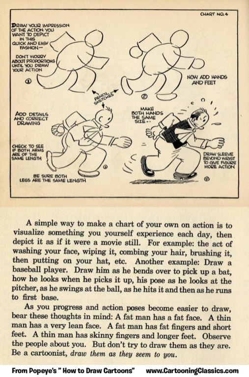 Popeyes How to Draw Cartoons by Joe Musial from 1939-10