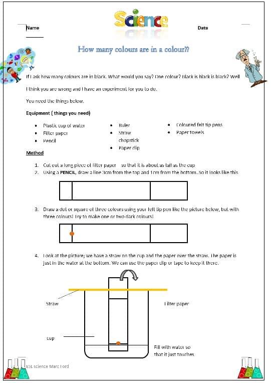 Splitting Colours – Chromotography