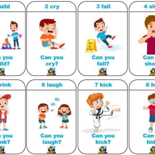 Can And Can T Worksheet For Kindergarten