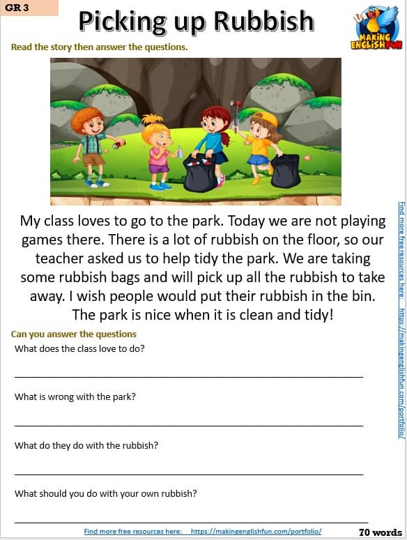 FREE Grade 3 reading