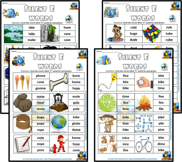 Magic E Phonics Worksheets