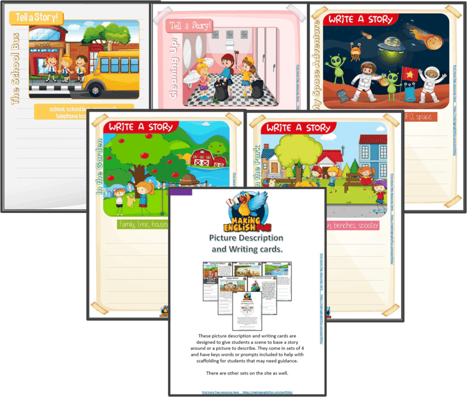 small resolution of Writing and Picture Description Worksheets for KindI