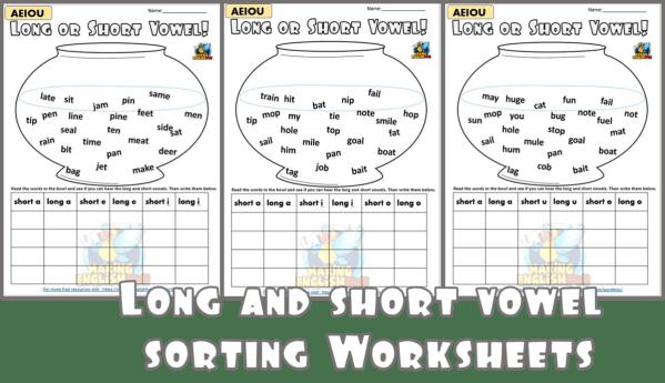 Long vowel sorting worksheet