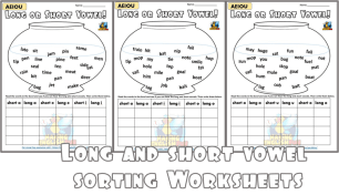 Long vowel sorting worksheet