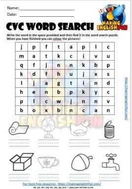 CVC wordsearch