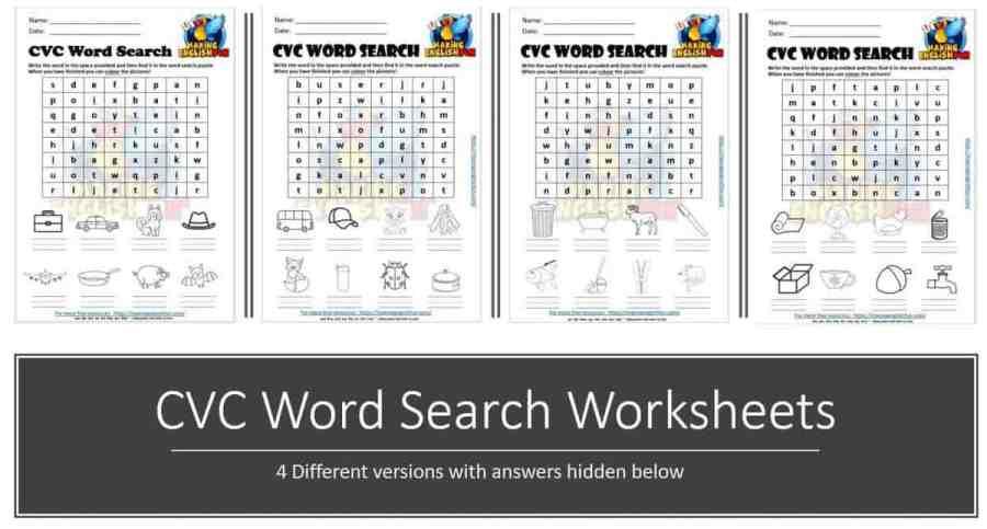 CVC wordsearch