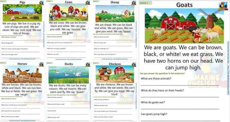 Reading and Writing  Cards – KINDERGARTEN and Grade 1 Set 2