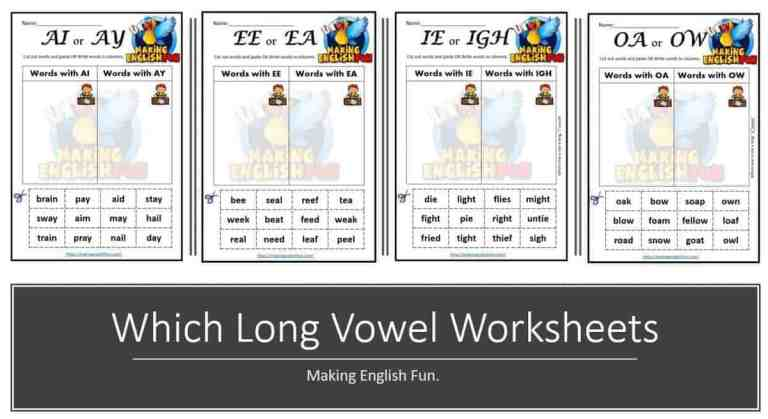 Free Which Vowel Phonics Worksheets