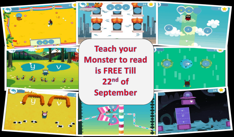 Update: Teach your Monster to read App is free till Sept 22nd!!!