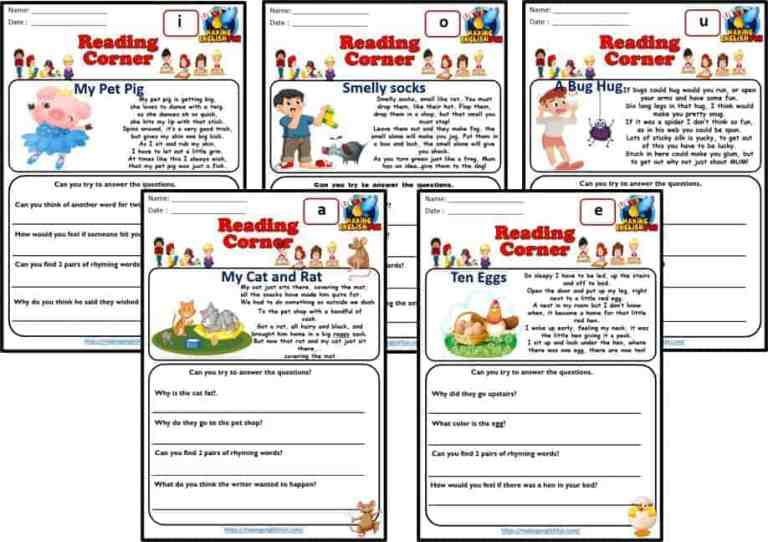CVC and Short Vowel Reading and Poems