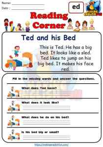 FREE CVC Reading Cards and COmprehension