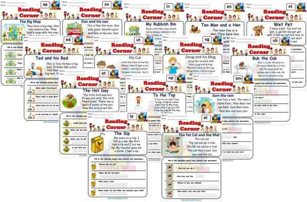 FREE CVC Reading Cards and Worksheets