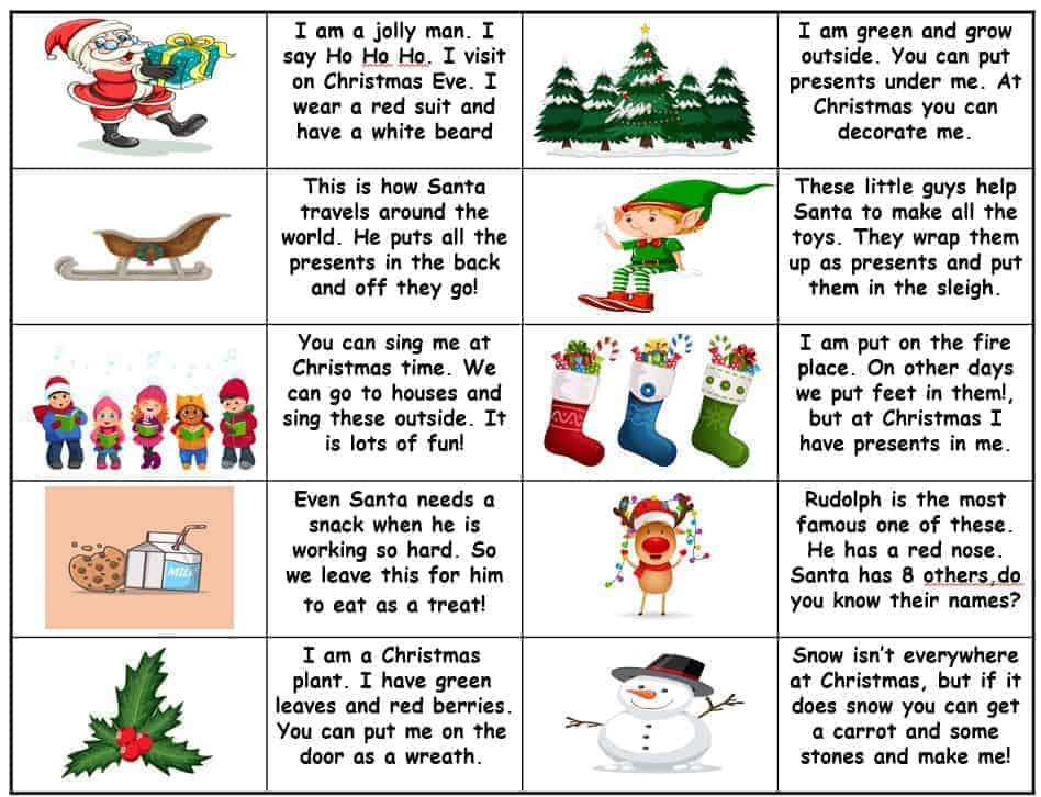 Christmas dominoes activity
