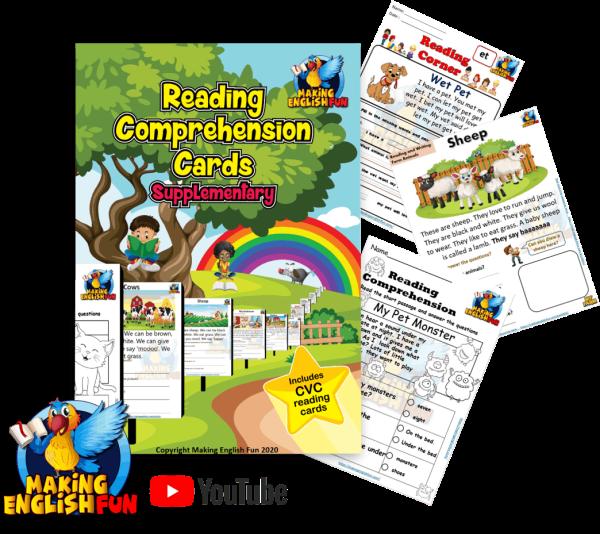 Kindergarten comprehension readers