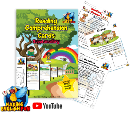 Kindergarten comprehension readers