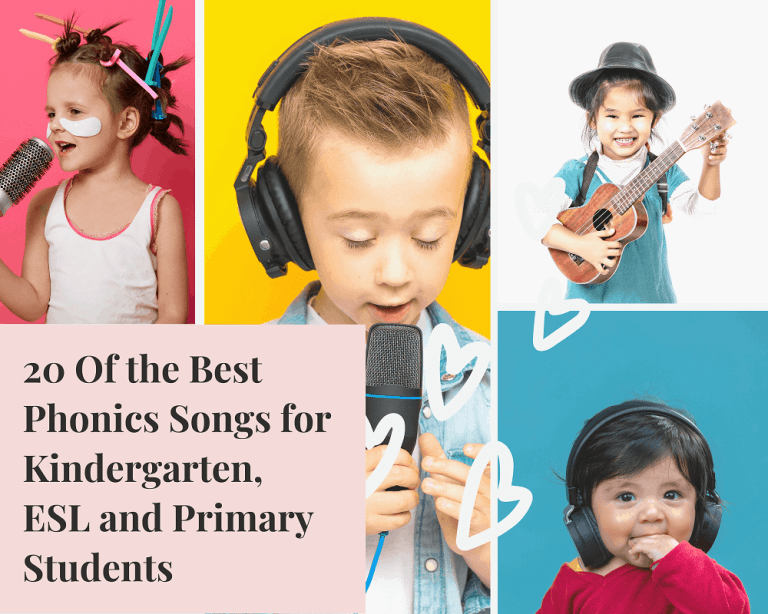 20 Of The Best Phonics Songs For Kindergarten, ESL And Primary Students.