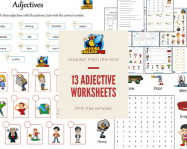 Adective and description worksheets