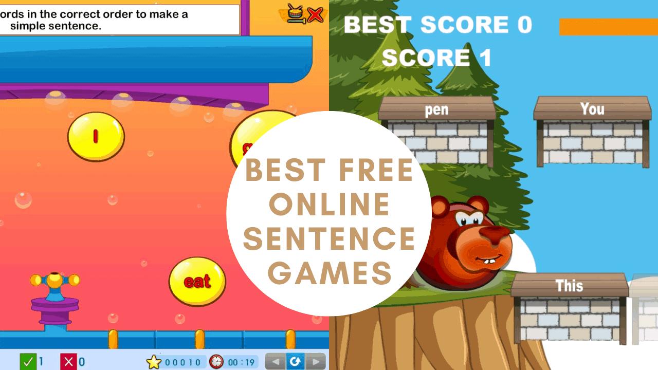 best free online sentence games