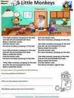 5 Little Monkeys Worksheet