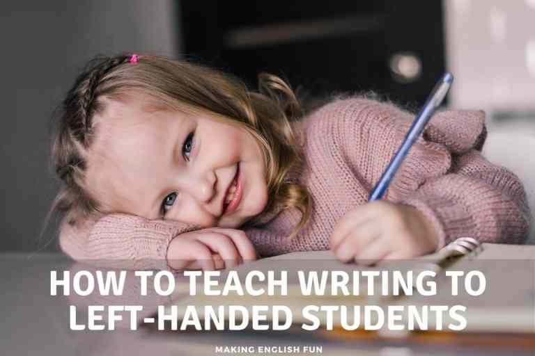 How To Teach Writing To Left handed Students