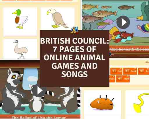 British Council online animal games