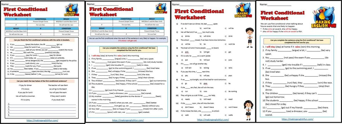 first conditional Worksheets