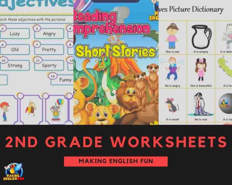 Free 2nd Grade English Worksheets