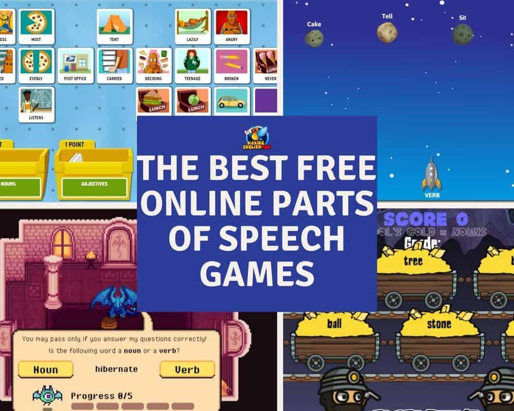 Best fREE online parts of speech games
