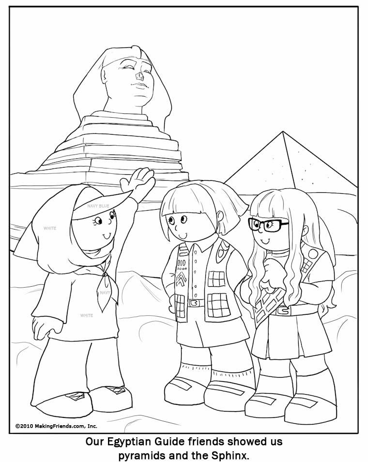 Egyptian Man Coloring Page