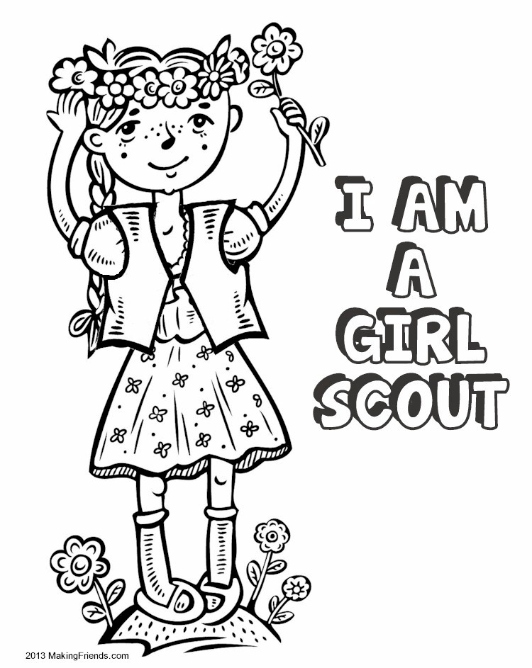 Blue Girl Scout Daisy Petal Coloring Page Sketch Coloring Page