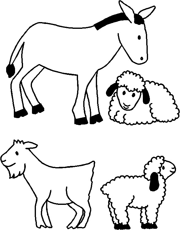 Nativity Animals for Paper Doll Friends